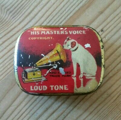 HMV Needle Tin 'Loud Tone' With Paper Insert - Featuring The Famous 'Nipper' • 7.95£