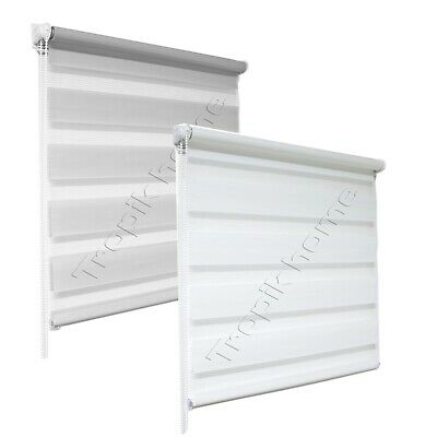 Day And Night Zebra Window Roller Blinds 2 Colours 16 Width Sizes,150cm Drop • 23.90£