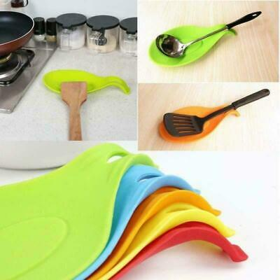 AU12.38 • Buy Heat Resistant Silicone Spoon Rest Cooking Tool Spatula Holder Kitchen Utensil