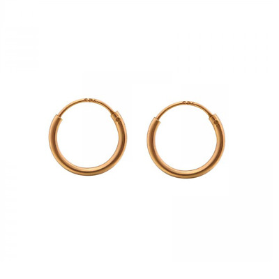 AU11.95 • Buy 14k Rose Gold On 925 Sterling Silver Sleeper Tiny Hoop Earrings Huggies