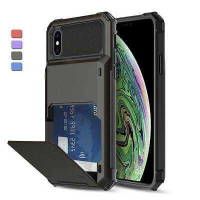 AU9.35 • Buy For IPhone 11 Pro Max XS 7 8 Plus Case Rugged Cover With Card Wallet Holder Slot