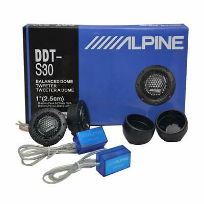 $16.99 • Buy ALPINE DDT-S30 25MM 1  SOFT DOME BALANCED CAR TWEETERS 360W CROSSOVERS Systems