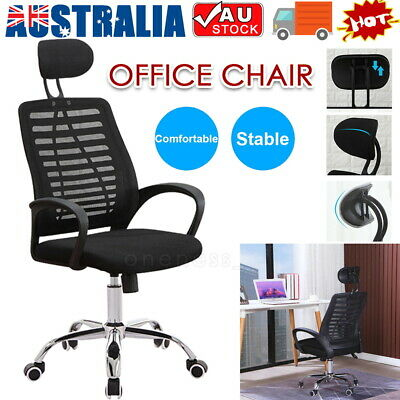 AU75 • Buy Executive Office Chair Gaming Desk Computer Mesh Seat Fabric Adjustable Swivel