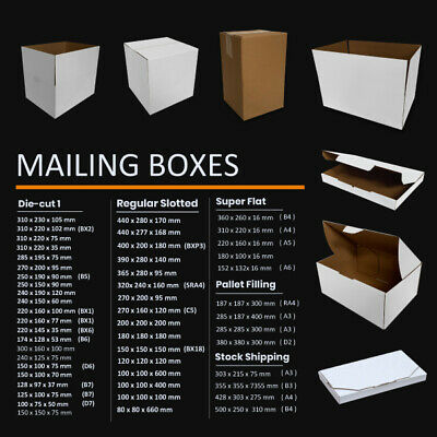 AU21.45 • Buy Mailing Box Cardboard Shipping Packing Mailer Parcel Boxes A4 A5 BX1 BX2 BX6