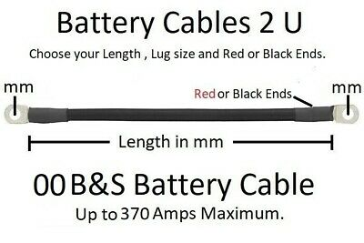 AU18.57 • Buy Ready Made 00 B&S Battery Cable Lead - Order To Your Specification