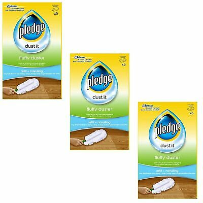3 X Pledge Fluffy Dusters Refills - Pack Of 5 • 17.99£
