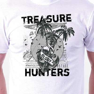Treasure Hunters  T-shirt: Fun Retro Cult Anchor MENS/LADIES BIRTHDAY GIFT IDEA • 14.95£