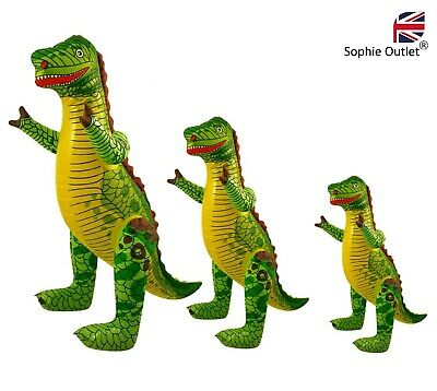 £4.60 • Buy S / M / L INFLATABLE DINOSAUR Blow Up T-Rex Toy Dino Party Decor Kids Animal UK