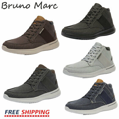 $16.40 • Buy Bruno Marc Mens Boys High Top Sneakers Canvas Walking Shoes Fashion Casual Shoes
