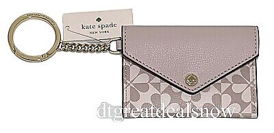 $ CDN47.18 • Buy NEW Kate Spade Keychain Cards Holder Hollie Spade Clover Pattern Pink