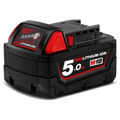 AU109 • Buy Genuine Milwaukee M18B5 18V 5.0Ah Li-Ion RED LITHIUM Battery
