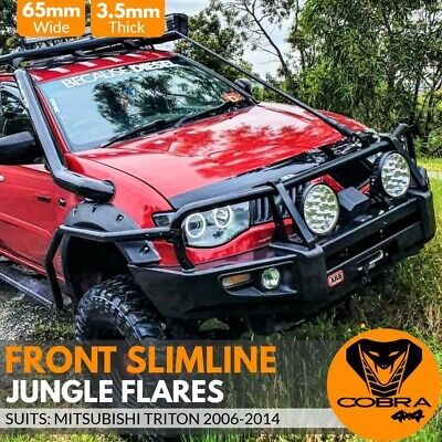 AU299 • Buy Front Slimline Jungle Fender Flares Fits Mitsubishi Triton  65mm Ml Mn 2006-2014