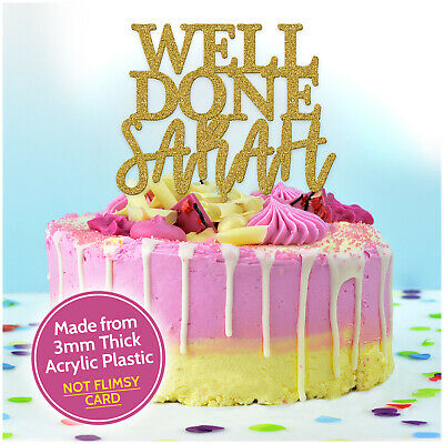 Exams Congratulations Cake Topper PERSONALISED Graduation Well Done Decorations • 7.99£