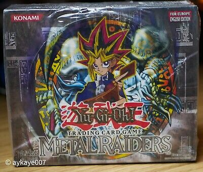 Yugioh Metal Raiders Booster Box MRD Factory Sealed *RARE* (Unlmtd Ed) Europe  • 900£