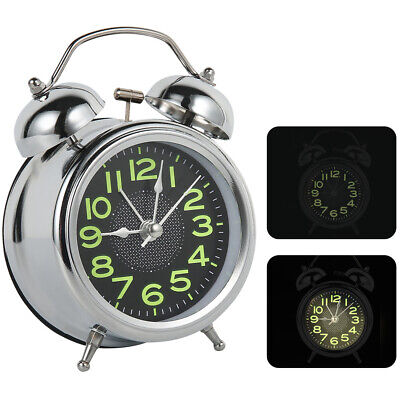 Small Retro Loud Double Bell Mechanical Key Bedside Wound Alarm Clock • 8.99£