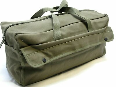 $29.99 • Buy Large Military Style Mechanics Tool Bag Heavy Duty Cotton Canvas Duffel Pack