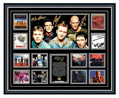 AU99.99 • Buy Midnight Oil Power And The Passion Signed Photo Limited Framed Memorabilia