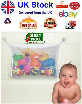Baby Bath Toy Tidy Storage Net Suction Cup Bag Mesh Shower Bathroom Organiser • 3.49£