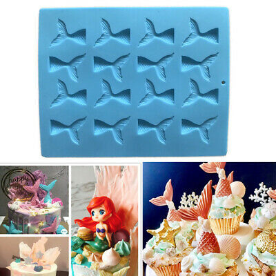 £2.99 • Buy Mermaid Tail Cake Mold Jelly Chocolate Baking Mould Ice Silicone Mold Wax Tool