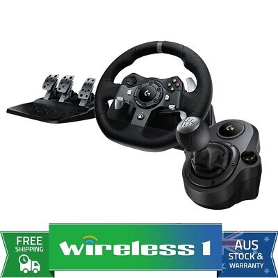 AU461 • Buy Logitech G920 Driving Force Racing Wheel For Xbox One / PC + Shifter Bundle