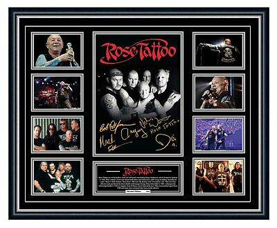 AU99.99 • Buy Rose Tattoo Angry Anderson Scarred For Life Signed Poster Framed Le Memorabilia