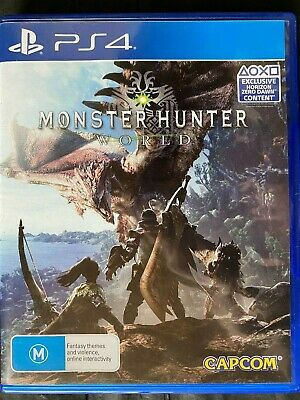 AU20 • Buy Monster Hunter World - Playstation 4 - PS4 - Action - Free Postage - Used