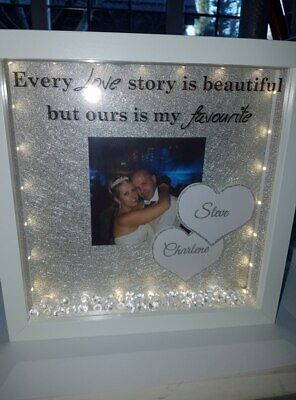 Box Frames,valentines Day Loved Ones Girfriend Boy Friend, Lights Christmas • 20£