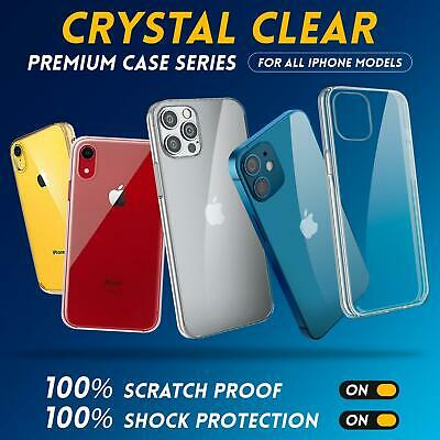 Case For IPhone 12 SE 2 11 XR XS MAX X 8 7 Plus Shockproof Silicone Clear Cover • 3.95£