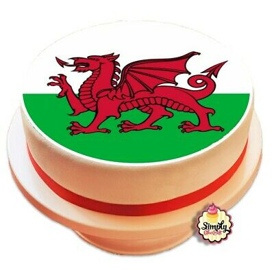 £5.50 • Buy Welsh Dragon Flag Cake Topper Edible Icing Sheet Printed Decoration Wales