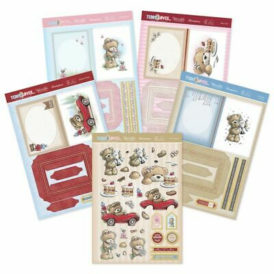Card Making Kits Decoupage Hunkydory Teddy Loves Concept Cards Birthday Book Kit • 7.50£