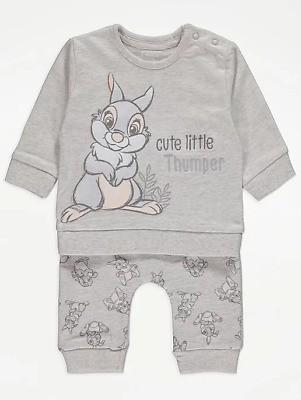 £15.99 • Buy Disney Baby Boys Girls Unisex Bambi Thumper Top And Joggers Outfit 0-24 Months