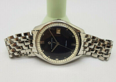 Used Vintage Eterna-matic Vision Black Dial Date Auto Man's Watch • 695£