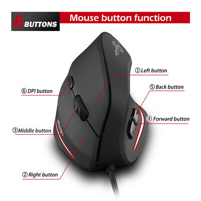 AU25.32 • Buy T-20 Mouse Wired Vertical Ergonomic Rechargeable 4 3200 DPI Gaming Mouse AU I4C6