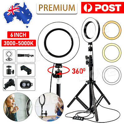 AU25.95 • Buy 6  Dimmable Diva LED Ring Light Tripod Stand Selfie Mini Circle Lamp Make Up AU