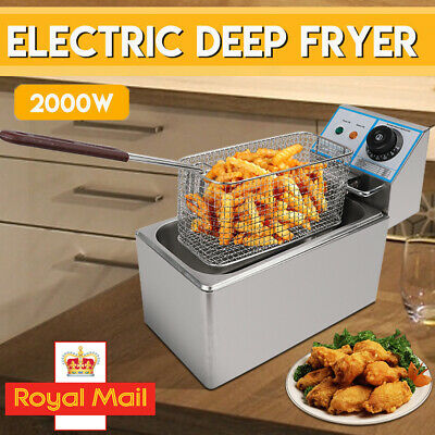 £30.98 • Buy Small 6L Commercial Electric Deep Fat Fryer Oil Fast Fry Chip Basket Easy Clean