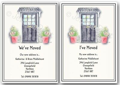 Personalised Change Of Address, House Moving New Address New Home Cards X10 J471 • 3.75£