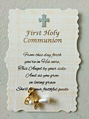 Beautiful First Holy Communion Angel Charm With Verse,Keepsake,Gift • 2.95£