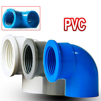 £1.75 • Buy PVC Elbow 90° Pressure Fittings Adhesive / Female Threaded Reducing Pipe Fitting