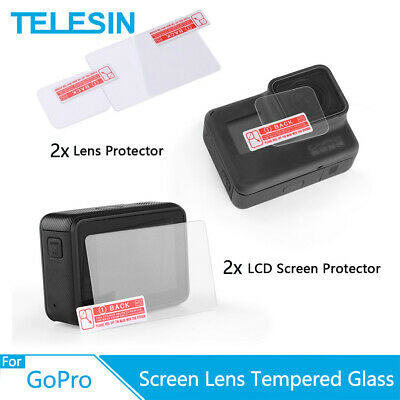 $ CDN8.74 • Buy TEELSIN 2x Screen Lens Tempered Glass Protector Film For GoPro Hero 5 6 7 Black