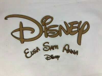 Personalised Disney Wooden Script Words, Names Or Letters - Wall Plaque Sign Mdf • 3.99£