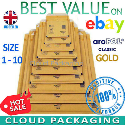 £19.79 • Buy Arofol Genuine Gold Bubble Padded Envelopes Mailers Bags *all Sizes / Qty's*