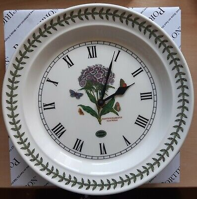 Portmeirion Botanic Garden Wall Clock Sweet William - Boxed • 18£
