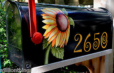 $12.95 • Buy Mailbox Magnet Partial Cover Door Sunflower Blk Mail Box Personalized  Car