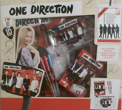 New One Direction Weekend Set Gift Cosmetic Bag Gift Diary Pouch 3 Gel Pens! 1D • 6.70£