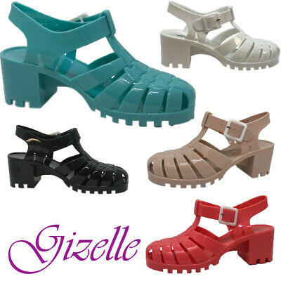Ladies Jelly Gladiator Retro Sandals Festival Beach Holiday Shoes Uk Size 3-8 • 7.99£