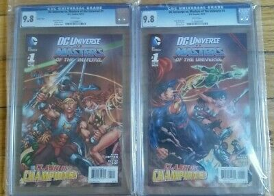 $109.99 • Buy DC UNIVERSE Vs MASTERS OF THE UNIVERSE #1 CLASH OF CHAMPIONS GRADED 9.8 BY CGC !