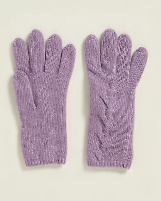 £21.24 • Buy 🆕️ PORTOLANO Ladies Cable Knit 100% Cashmere Gloves $78 MSRP New With Tag