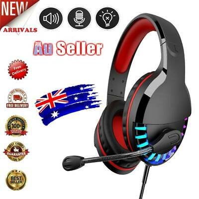 AU28.99 • Buy 3.5mm Gaming Headset MIC LED Headphones For PC SW Laptop PS4 Slim Xbox One/X/S