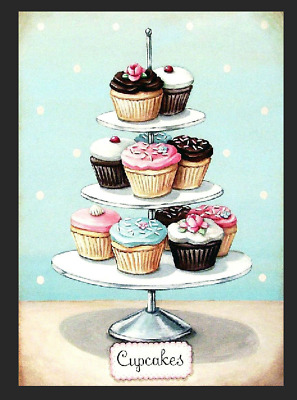 Cupcakes Retro Vintage Metal Tin Sign Wall Plaque Kitchen Home Gift Cakes Party • 5.99£
