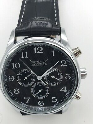 £29.99 • Buy  Automatic Men's Classic Jaragar With Leather Strap And 3 Small Sub Dials Watch
